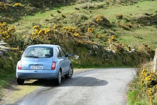 Ireland-Car-on-Side-of-Road