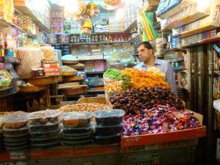 Candies-at-market-at-Arab-Quarter,-Jerusalem