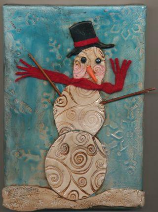 Polymer-snowman