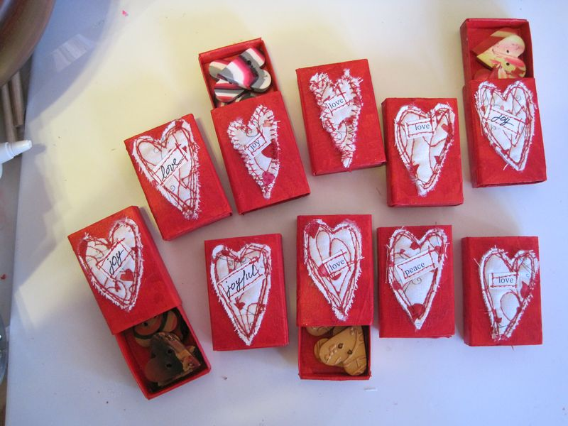 Vday matchboxes