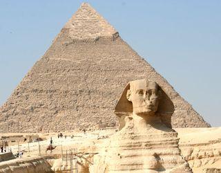 Sphynx-and-pyramid