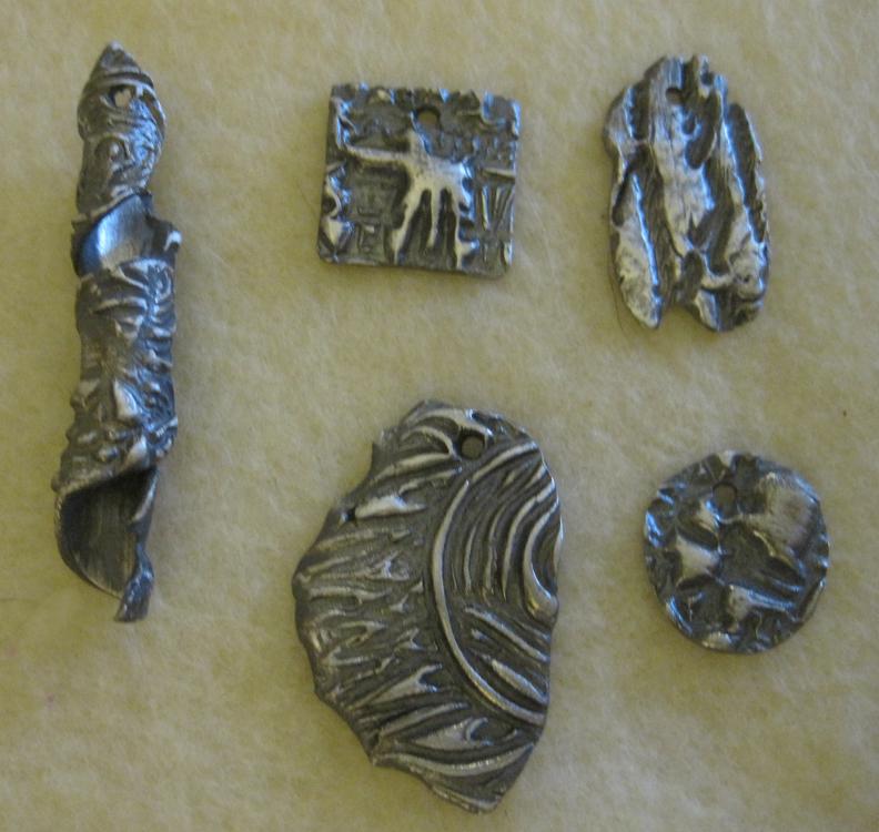 Textured-pendants