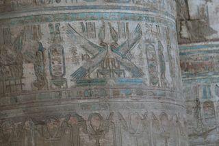 Egyptian-temple-column