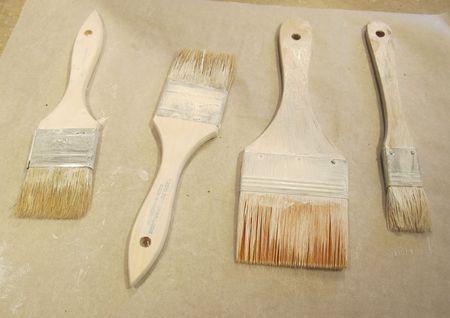 Paintbrushes-gessoed