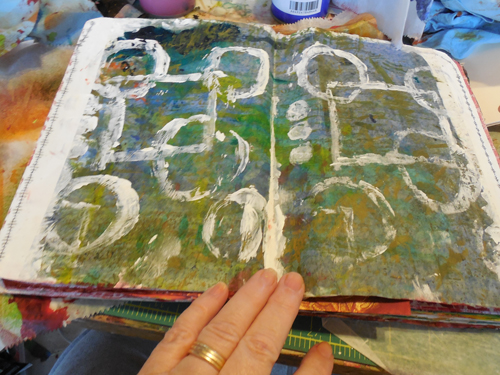 Journal-page-background-with-stamps