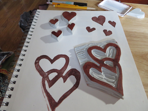 Stamp-hearts
