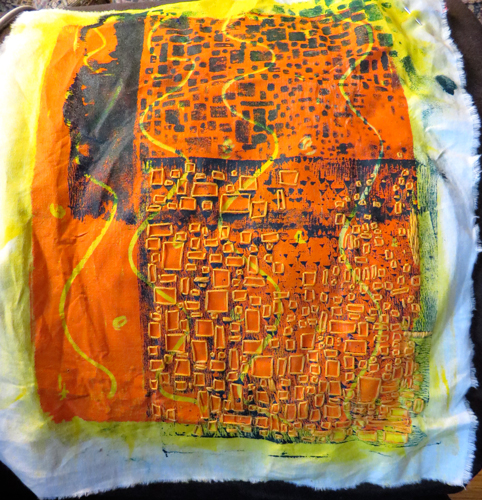 Starting-embroidered--monoprint