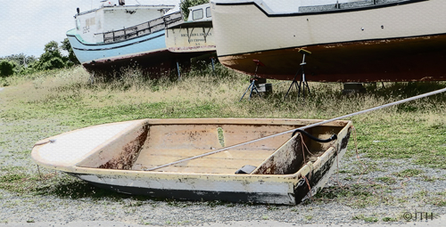 Boat-with-hole-penned