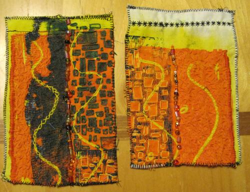 Embroidered-monoprint