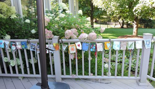 Flags on porch 2