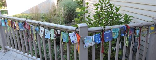 Flags on porch 1